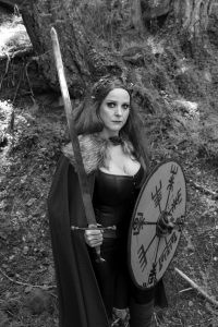Shield Maiden Play, United Solo Festival, Viking Warrior, New York City, 42nd street