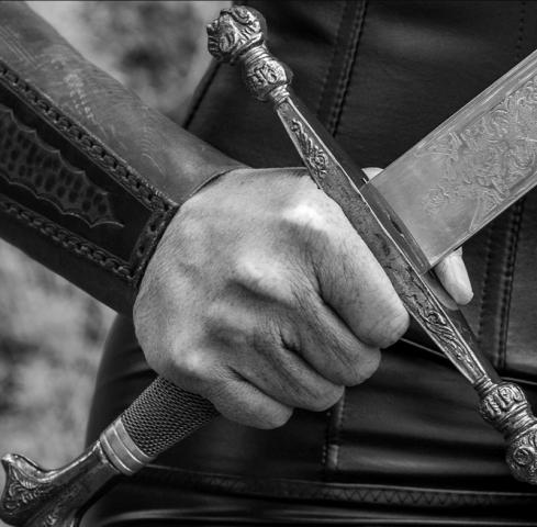 shield maiden, Viking warrior, Viking woman warrior, Shield Maiden play, play, theatre, strong women, historical women, viking warrior, viking warrior woman, black and white photography, stage still, Melanie Teichroeb